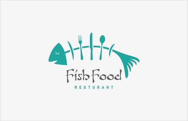 Fish Food Restaurant Logo Template