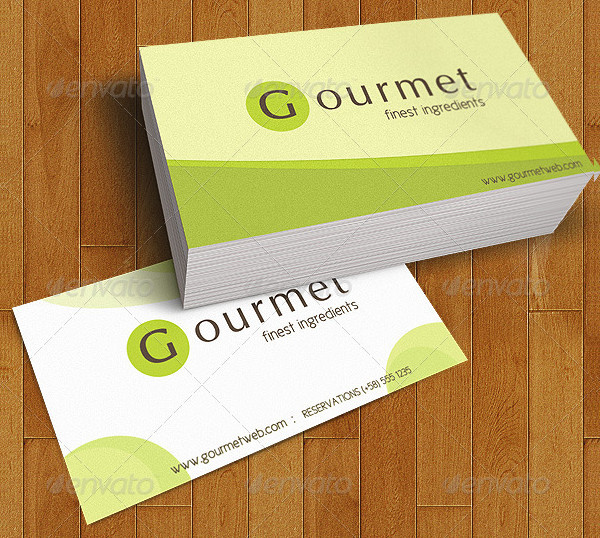 Food Catering Menu and Business Cards