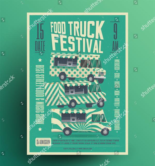 Food Truck Festival Invitation Flyer