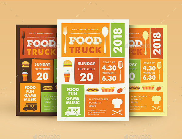 Food Truck Promotional Flyer Template