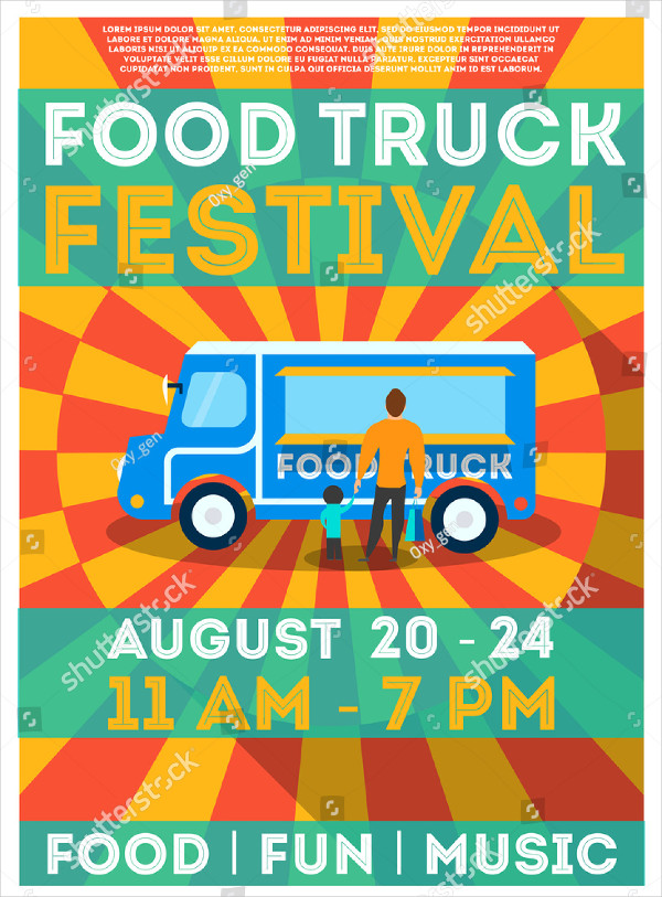 Food Truck Festival Poster or Flyer Template