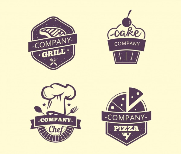 Four Restaurant Food Labels Free Download