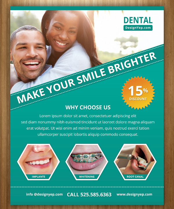 Free Dental Care Flyer PSD Template