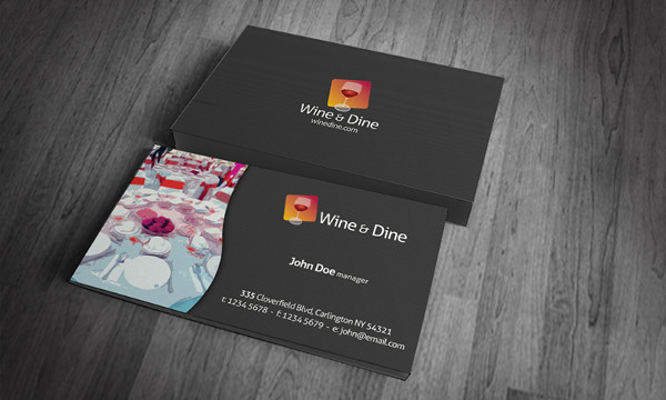 Free Download Catering Company Business Card Template