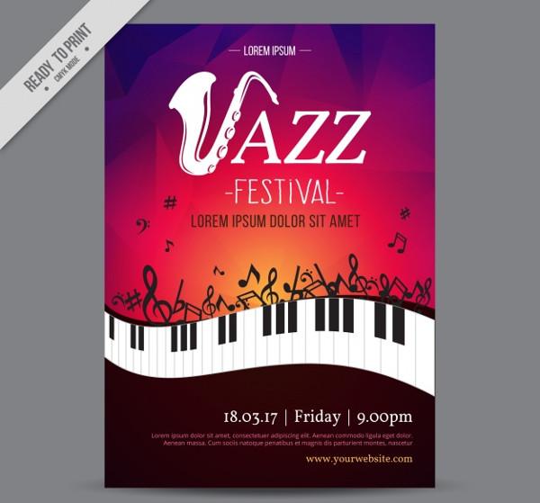 Free Download Jazz Festival Creative Flyer