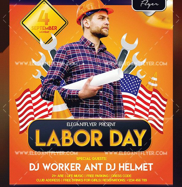 Free Download Labor Day Flyer Template