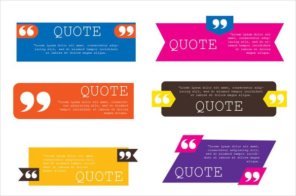 Free Download Quote Template Collection Vectors