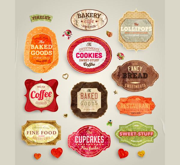 Free Food Labels Design Download