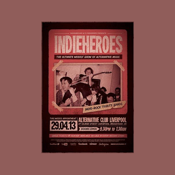 Free Indie Rock Flyer Template