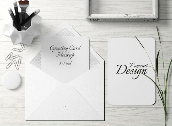 Free PSD Greeting Card Mock-up