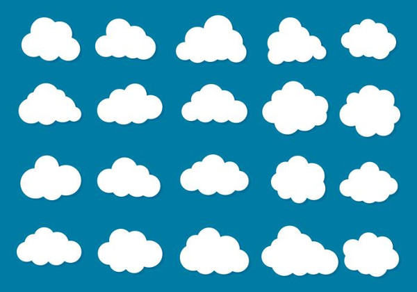 Free Vector Clouds Icon Collection