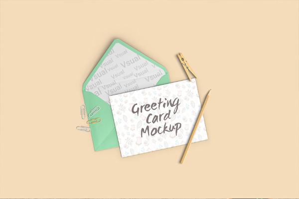 Fresh Greeting Card Mock-up Free