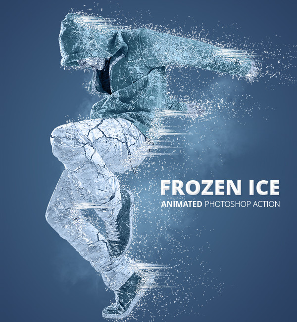 Frozen Ice Gif Animated Photoshop Actions
