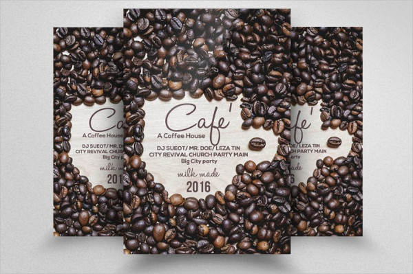 Fully EditableCafe Flyer Template