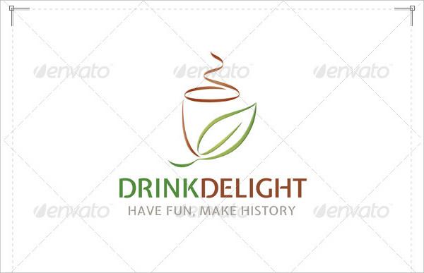 Fully Editable Drink Delight Logo Template