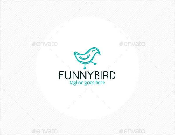 Fully Editable Funny Bird Logo Template