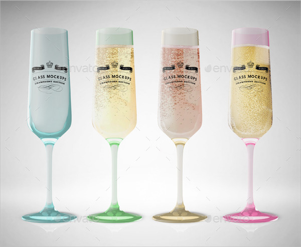 Fully Editable Glass Mock-up Templates