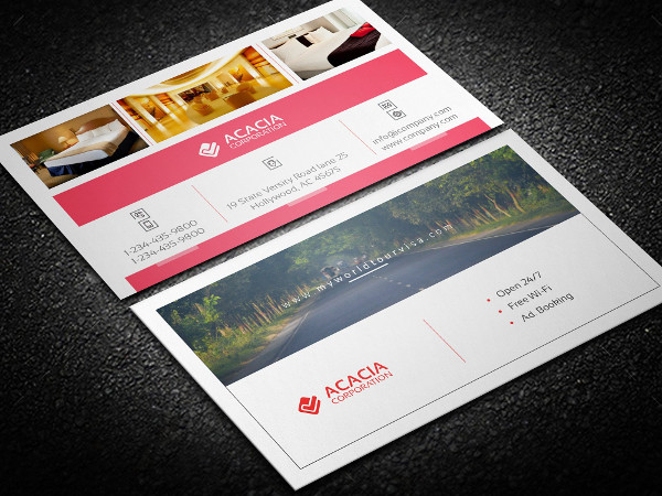 Fully Editable Hotel or Photography Business Card