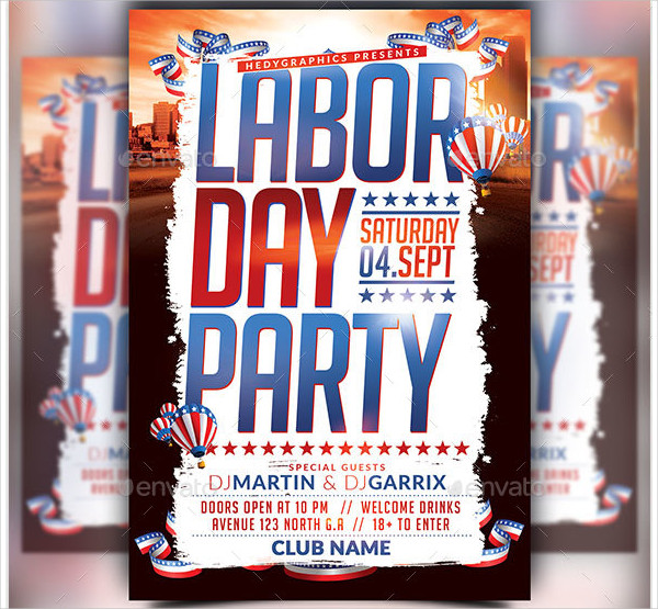 Fully Editable Labor Day Festival Flyer Template
