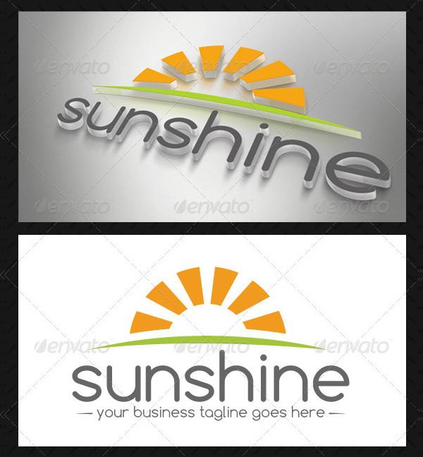 Fully Editable Sun Logo Template