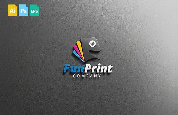 Fun Print Logo Template