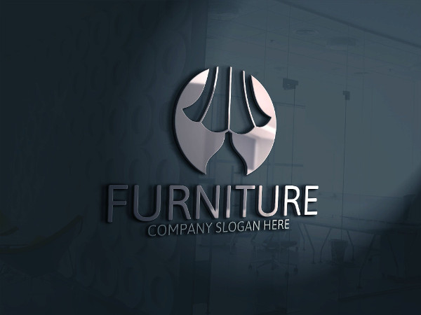 Modern Furniture Store Logo Template