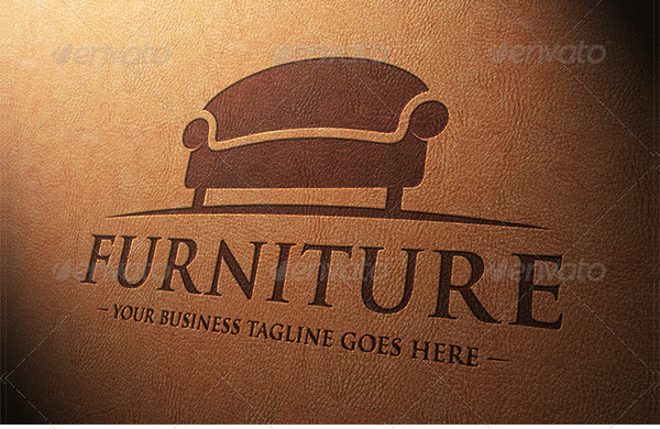 Clean Furniture Store Logo Template
