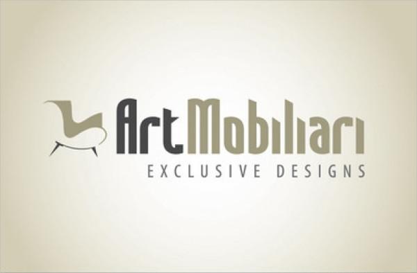 Furniture Stylish Logo Design Free Download