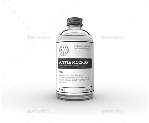 Glass Bottle Label Mock-Up