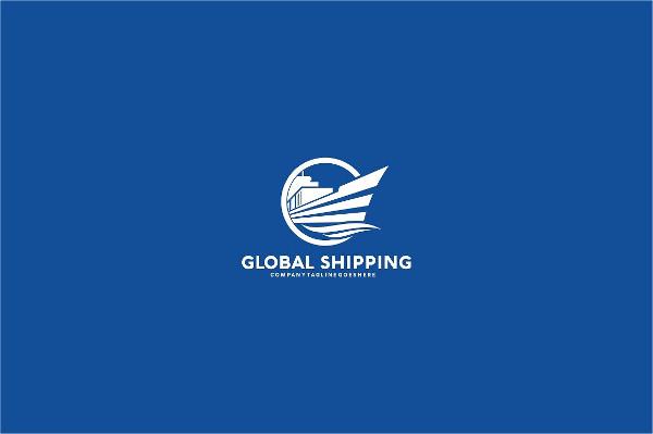 Global Shipping Logo Template