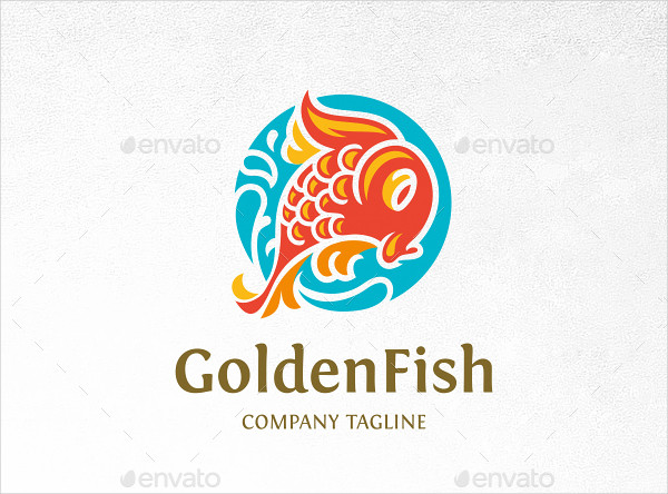 Golden Fish Logo Template