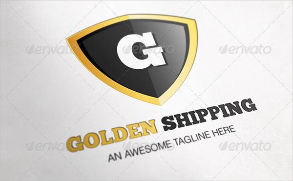 Golden Shipping Letter Logo Design