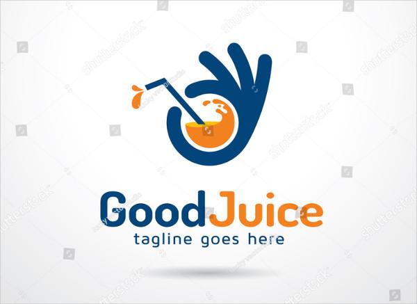 Good Juice Logo Template Design Vector
