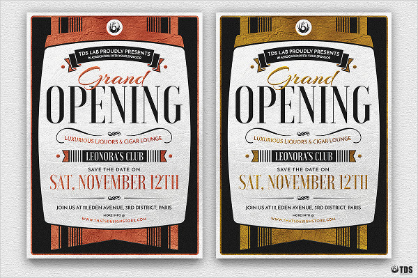 Grand Opening Invitation Flyer Template