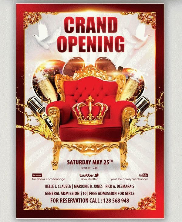 Grand Opening Party Free PSD Flyer Template
