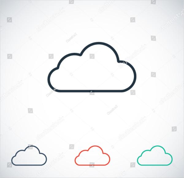 Beautiful Cloud Icon Vector