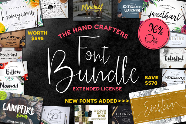 Hand Crafters Font Bundle