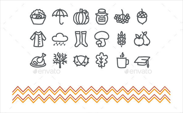 Hand Drawn Autumn Icons