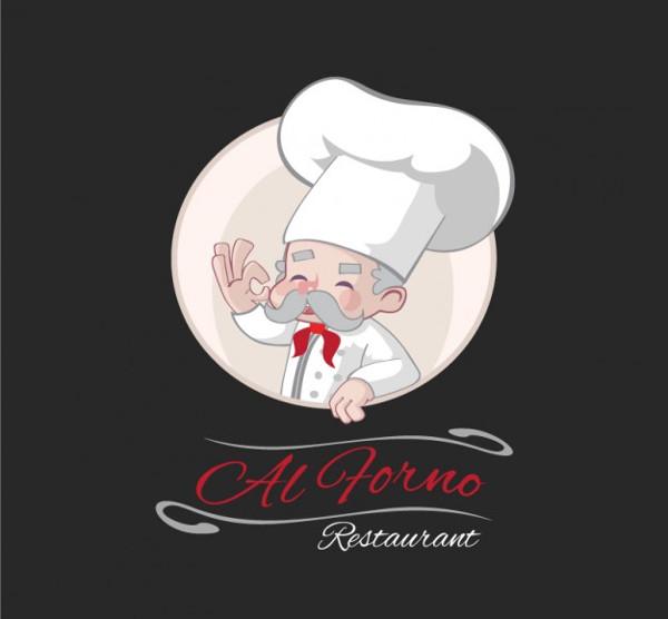 Hand Drawn Experienced Chef Restaurant Logo Free