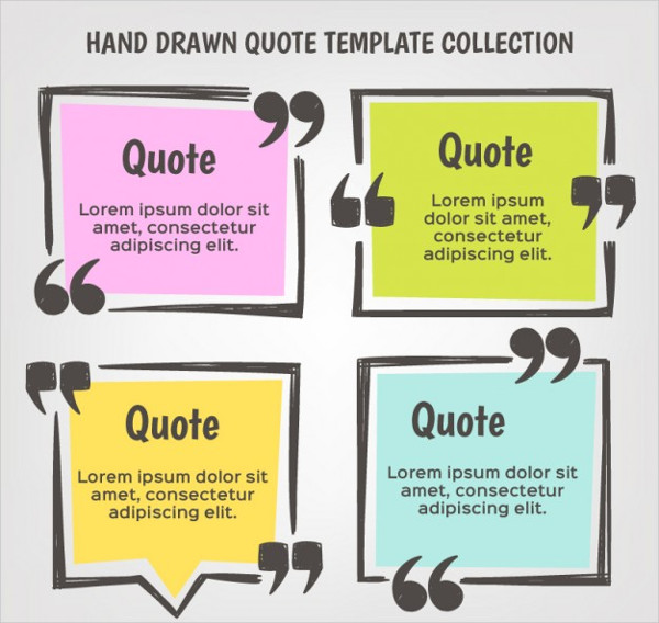Hand Drawn Quote Template Set Free Download