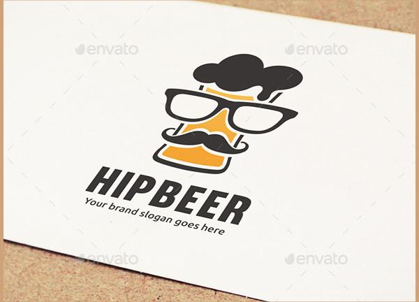 Hip Beer Drink Logo Template