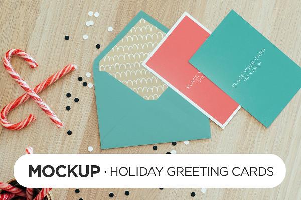 Holiday Greeting Card Mockups