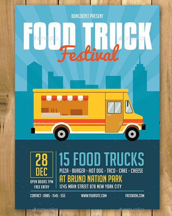 Best Food Truck Event Flyer Template