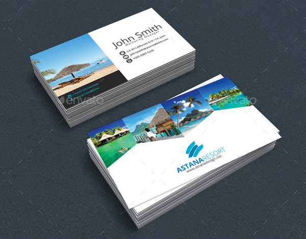 Stylish Hotel & Resort Business Card Template