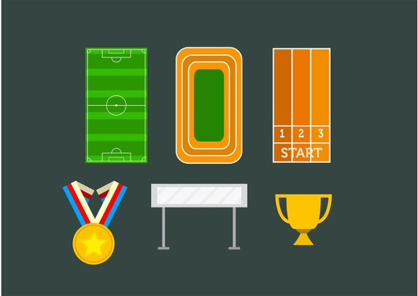 Icons for Olympic Competition Free Vector