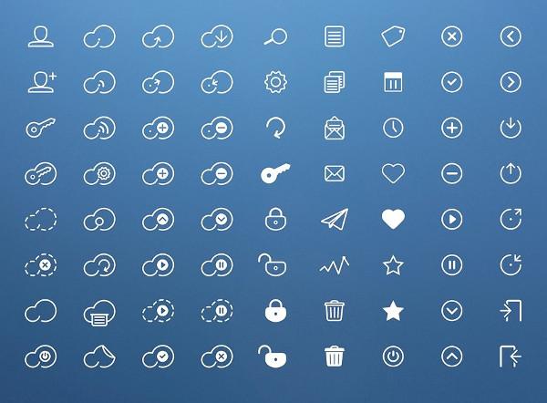 Unique Cloud Icon Pack