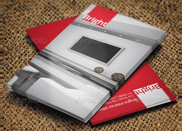 Creative Interior Design Business Card Template