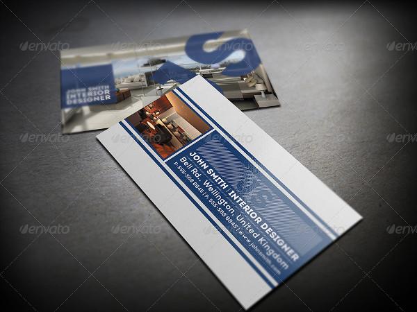 Clean Interior Designer Business Card