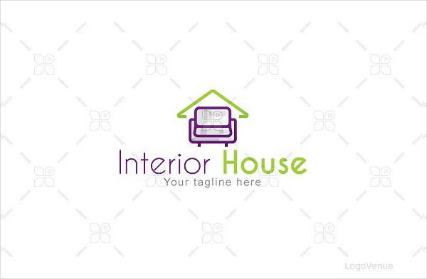Interior House Furniture Logo