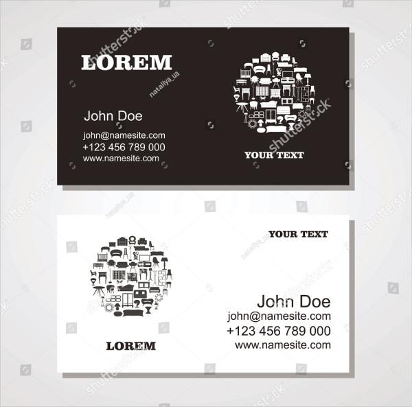 Custom Interior & Furniture Design Business Card Template
